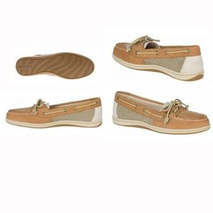 Women's Sperry Firefish Linen / Oats Loafers 8.5